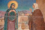La Visitation, Marie rend visite à sa relative Elizabeth, église du Sauveur sur le sang versé (église de la Résurrection), patrimoine mondial de l'UNESCO, Saint-Pétersbourg, Russie, Europe