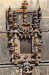 Manueline Chapterhouse window, by Diogo de Arruda, Convent of Christ, UNESCO World Heritage Site, Tomar, Ribatejo, Portugal, Europe