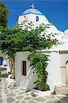 Church, Hora (Chora) Parikia, Paros, Cyclades, Greek Islands, Greece, Europe