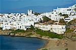 Beach, Naoussa, Paros, Cyclades, Aegean, îles grecques, Grèce, Europe