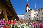 Big Church, Ortisei, Gardena Valley, Bolzano Province, Trentino-Alto Adige/South Tyrol, Italian Dolomites, Italy, Europe