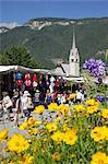 Marché de la ville, Pozza di Fassa, vallée de Fassa, Province de Trento, Trentin-Haut-Adige/Südtirol, Italie Dolomites, Italie, Europe