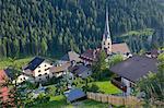 Church in St. Cristina, Gardena Valley, Bolzano Province, Trentino-Alto Adige/South Tyrol, Italian Dolomites, Italy, Europe