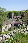 Hartington Village and church, Peak District, Derbyshire, England, United Kingdom, Europe