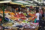 Market stall, Piazza Erbe Market, Bolzano, Bolzano Province, Trentino-Alto Adige, Italy, Europe