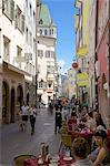 Architecture and street scene, Bolzano, Bolzano Province, Trentino-Alto Adige, Italy, Europe