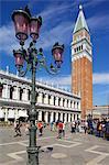 Campanile et Piazza San Marco, Venise, UNESCO World Heritage Site, Veneto, Italie, Europe