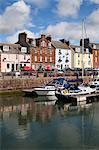 Yachts dans le port à Arbroath, Angus, Ecosse, Royaume-Uni, Europe