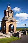 Holbeck Clock Tower on Esplanade, Scarborough, North Yorkshire, Yorkshire, England, United Kingdom, Europe