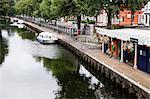 Gare de Norwich Yacht et la rivière Wensum, Norwich, Norfolk, Angleterre, Royaume-Uni, Europe
