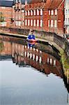 Quai et la rivière Wensum, Norwich, Norfolk, Angleterre, Royaume-Uni, Europe