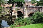 Évêque pont au-dessus de la rivière Wensum, Norwich, Norfolk, Angleterre, Royaume-Uni, Europe
