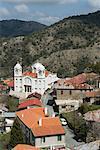 Village vue, Pedoulas, hautes montagnes de Troodos, Chypre, Europe