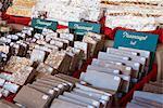 Nougat über Weihnachten Markt Stand, Berlin, Deutschland, Europa