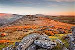 Looking towards Honeybag Tor in Dartmoor National Park, Devon, England, United Kingdom, Europe