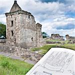 Castle de St. Andrews, St. Andrews, Fife, Écosse, Royaume-Uni, Europe