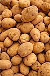Pommes de terre, un des légumes frais sur le marché du dimanche matin, Pollenca, Tramuntana, Majorque, îles Baléares, Espagne, Europe