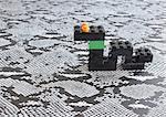 Serpent faites de blocs de plastique