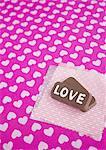 Chocolats avec « Love »