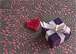 Cœur et une boîte-cadeau