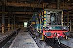 Disused Locomotive in Railway Maintenance Station, Marchienne-au-Pont, Charleroi, Wallonia, Belgium