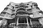 Casa Mila designed by Antoni Gaudi in Barcelona, Spain