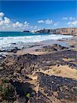 Northern Fuerteventura, edge of El Cotillo, beach Playa del Castillo