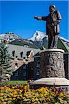 Statue of Sir William Cornelius Van Horne at Fairmont Banff Springs Hotel, Banff, Banff National Park, Alberta, Canada