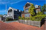 Coastal Cottage Homes, Edgartown, Dukes County, Martha's Vineyard, Massachusetts, USA