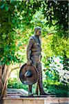 Statue of General Emiliano Zapata in Emiliano Zapata Park, Miramar District, Havana, Cuba