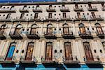 Low Angle View of Multi-Story Building, Havana, Cuba