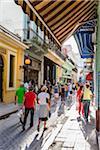 Shoppers along Obispo Street, Havana, Cuba