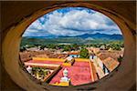 View of City Through Round Window from the Museo de la Lucha Contra Bandidos, Trinidad, Cuba