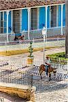 Man on Donkey in Plaza Mayor, Trinidad, Cuba