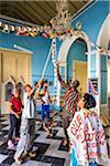 People Decorating Hall for Club Amigos Social Dancing Event, Trinidad, Cuba