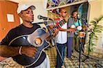 Band Performing at Club Amigos Social Dancing Event, Trinidad, Cuba
