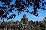 Wide shot Bayon Temple, Angkor Wat, Cambodia