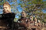 Stone carvings of deities, Angkor Wat, Cambodia