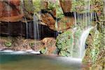 Waterfalls at 25 Fontes (25 Springs), Madeira, Portugal