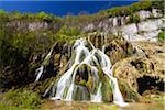 Waterfall, Baume-les-Messieurs, Jura, Franche-Comte, France