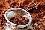 Cocoa and sieve  - making truffles step shot