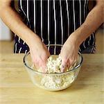 Making Halloween Cupcakes - rubbing in method- dough - step shot