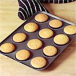 Making Halloween Cupcakes - baked cupcakes - step shot