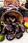 Eggplants at a Farmer's Market