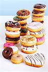An arrangement of doughnuts