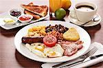 English breakfast and coffee