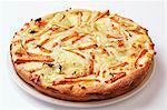 Mozzarella and sweet potato pizza