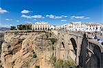 Ronda, Spain. Tajo gorge, bridge, national Parador