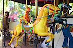 Vintage merry-go-round horses.
