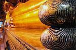 Reclining Buddha at the Wat Pho Monastery (Wat Phra Chetuphon), Bangkok, Thailand, Southeast Asia, Asia